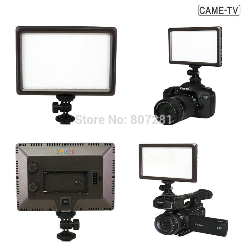 Protvrig Camera & Camcorder Light 3200K 5500K LED Chips Lighting on DSLR DV