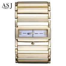 ASJ Novo Relógio Feminino Lazer Moda Oco À Prova D' Água Relógio de Quartzo De Luxo Mulheres Assistem Venda Quente