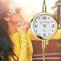 GEEKTHINK Новая Мода Марка Кварцевые Часы-Женщин Леди женщина Платье Девушки Браслет Повседневная Простой Кольцо стали наручные часы