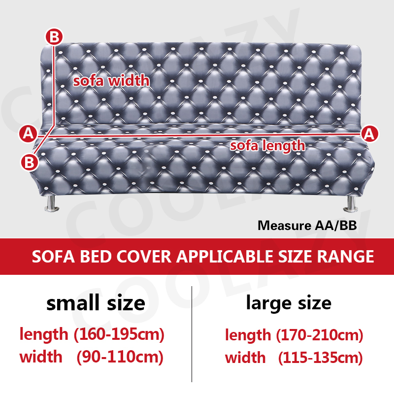 Sofa Cover for Folding Sofa with Tight Wrap to Protect Sofa from Scratch Made with Polyester and Spandex 1