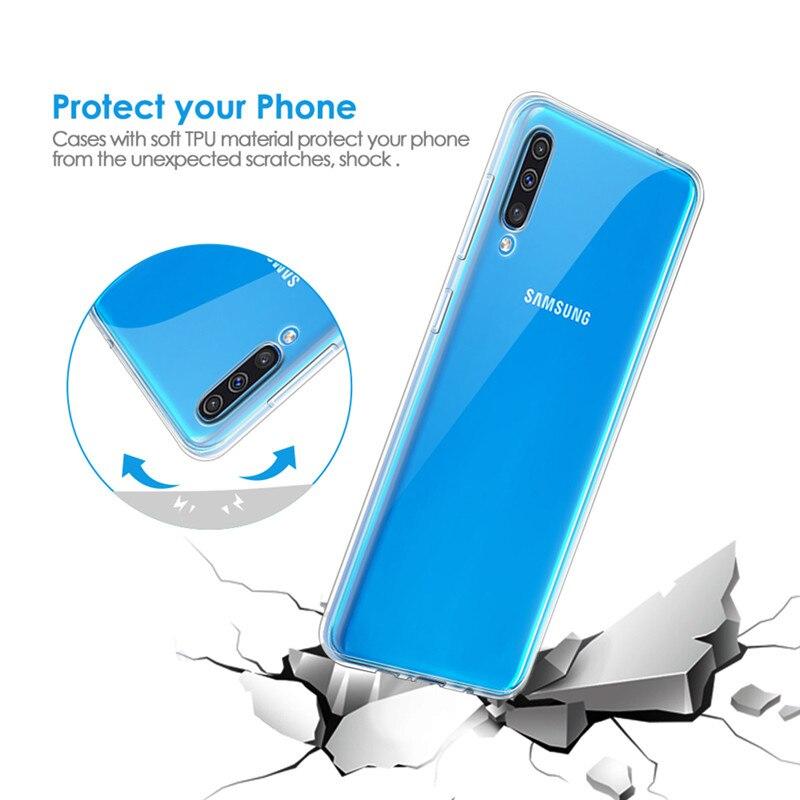 Прозрачный чехол Coque для samsung Galaxy A10 A20 A30 A40 A50 A70 A60 A80 S10 10 плюс S10e S10+ Чехол Мягкий ТПУ Тонкий силиконовый чехол