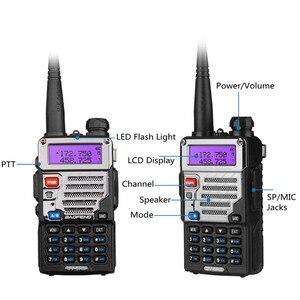 Image 5 - Baofeng UV 5RE Plus Battery 5W Walkie Talkie Dual Band Uhf Vhf 136 174MHz & UHF 400 520MHz UV 5RE Two Way Radio Baofeng UV 5R