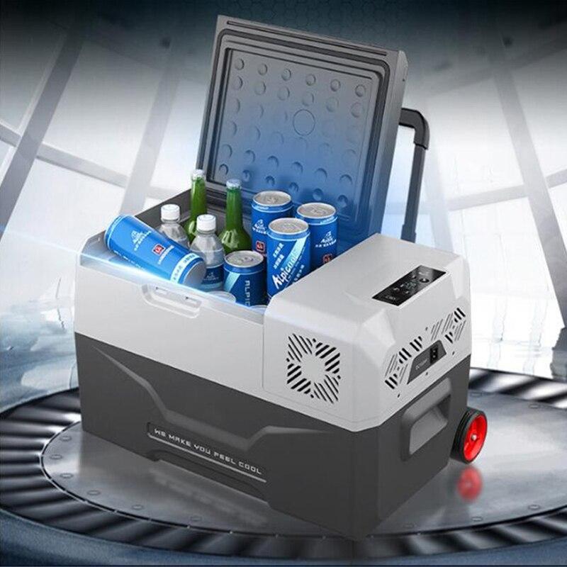 30/40/50l geladeira auto-geladeira 12 v portátil mini geladeira compressor carro geladeira carro geladeira acampamento nevera portatil