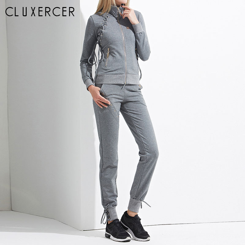 Two Piece Set Tracksuit For Women Elegant Jacket And Pants Set Spring Autumn 2019 Womens Casual