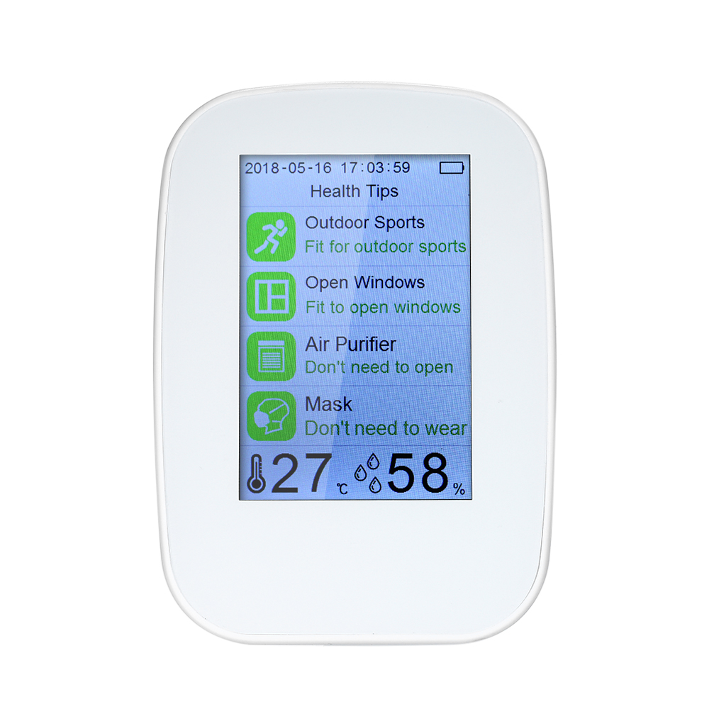 Air Analyzers Meter Portable Multifunctional Air Quality Detector Indoor Outdoor HCHO TVOC Tester CO2 Meter Monitor