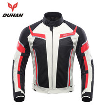 DUHAN Motorcycle Jacket Men Summer Breathable  Off-Road Mesh Moto Racing MotocrossJacket Protective Clothing