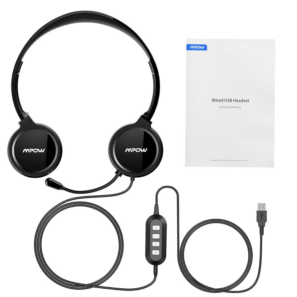 Mpow USB headphones Earphones 3.5mm Headset with Noise Reduction ...