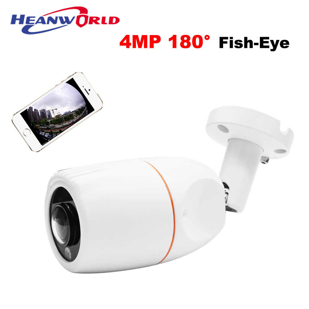 New HD 4MP Fish Eye IP camera 180 degree Mini Camera ip Home Security Camera Outdoor panoramic camera waterproof night vision