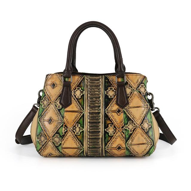 2017 Original Genuine Leather Woman Handbags Vintage Top Handle Casual Totes Cowhide Women Big Cross Body Shoulder Satchel Bags