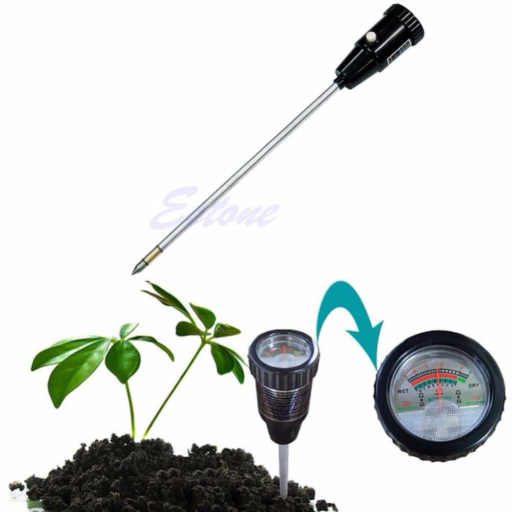 Soil ph moisture meter tester long water quality plants for Soil moisture meter
