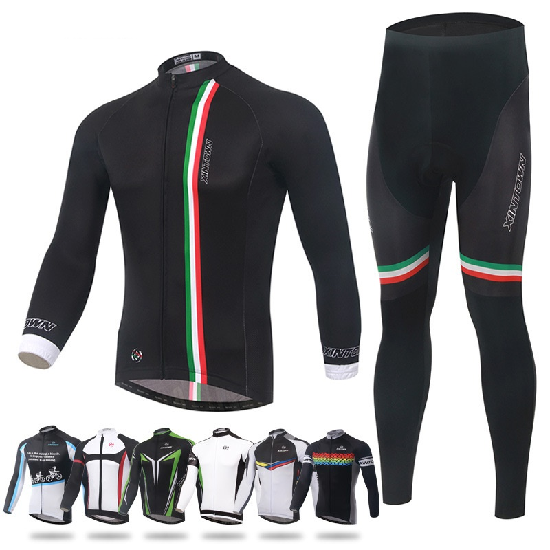 2017 Cycling Jersey MTB Pro Team Men Clothing Long Sleeve Funny Cycling Jersey Maillot Ropa Ciclismo