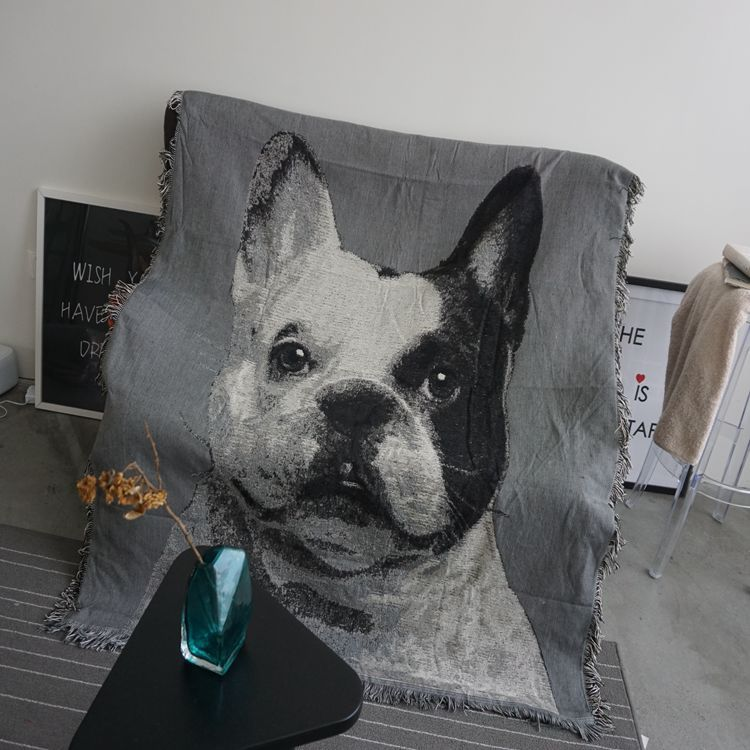 cute cat dog knitted cotton sofa towel throw blanket covers decorative slipcover on sofa  bed