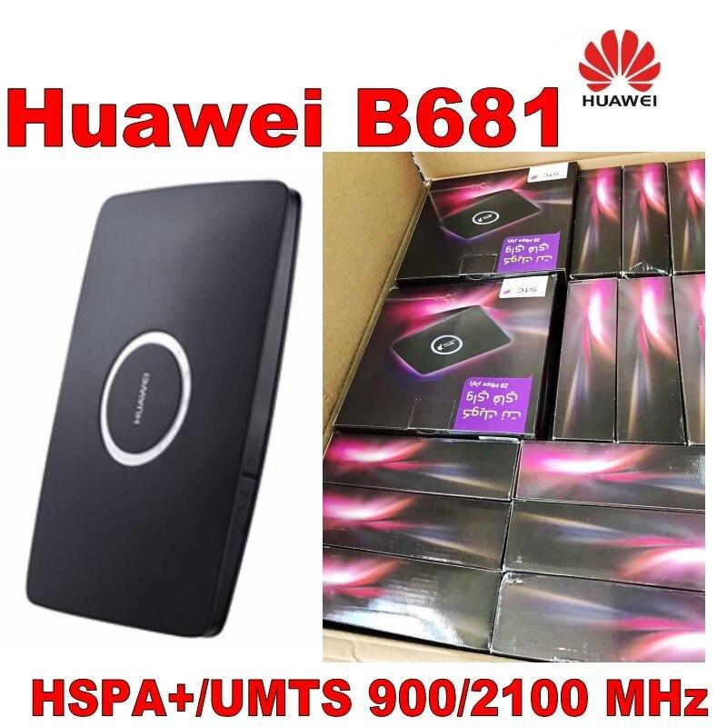 Huawei B681 3g UMTS HSPA + WCDMA 28.8 Mbps WPS Roteador Gateway Doméstico Sem Fio Wi-fi Slot Para Cartão SIM Móvel banda larga PK B683