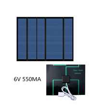 Solar Panel 6V 550MA 3.3W phone solar charger with usb