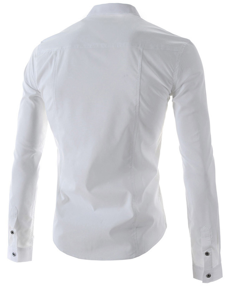 Famous Brand Men Shirts 2015 Turn Down Collar Men Long Sleeve Dress