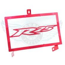 Red motorrad zubehör edelstahl kühler schutzfolie grill abdeckung für yamaha yzf r25 yzf-r25 2015 2016
