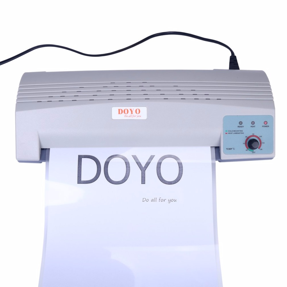 DOYO Professional A4 Photo Laminator Paper Film Document Hot And Cold Laminator With Temperature Control EU Plug Drop Shipping cewaal new design a4 photo laminator document hot