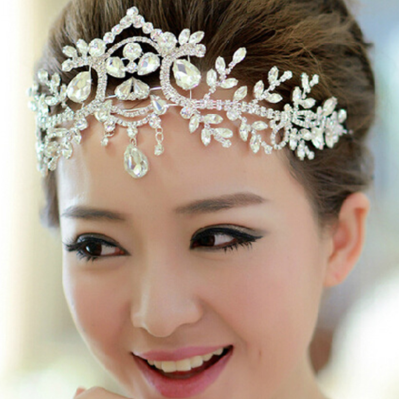 Wedding Hairstyles With Jewels: Crystal Vintage Bridal Hair Accessory Wedding Rhinestone