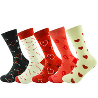 5 Pairs Lot Fashion Free Shipping Combed Cotton Brand New Men Socks Colorful Dress Socks Wedding