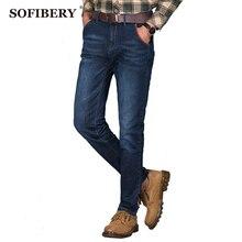 SOFIBERY мужские Джинсы большого размера 40 42 44 48 Повседневная мужские джинсы прямые падение цен Бесплатная Доставка YF106016