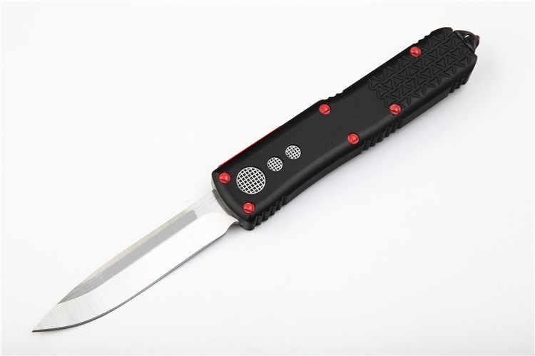 OTF UT سكين S/E D2 شفرة مقبض ألمونيوم التخييم بقاء في الهواء الطلق EDC هانت التكتيكية أداة عشاء المطبخ سكين