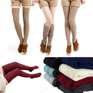 Knee Socks Women Cotton Thigh High Over The Knee Stockings Warm Long Stocking women Sexy Medias winter 2018 woman