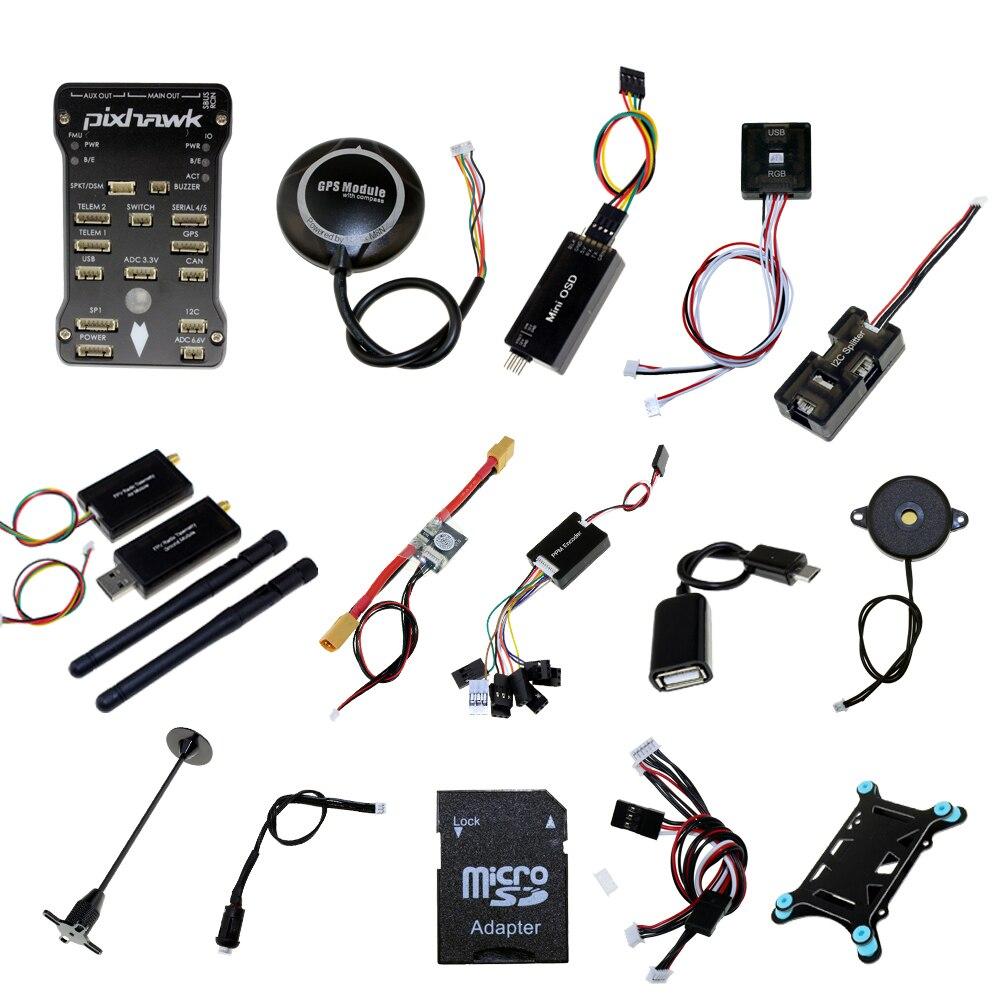 Pixhawk PX4 PIX 2.4.8 contrôleur de vol NEO-M8N GPS Radio 100 mw 500 mw télémétrie OSD 3DR 433 Mhz 915 Mhz pour cadre de Drone FPV RC