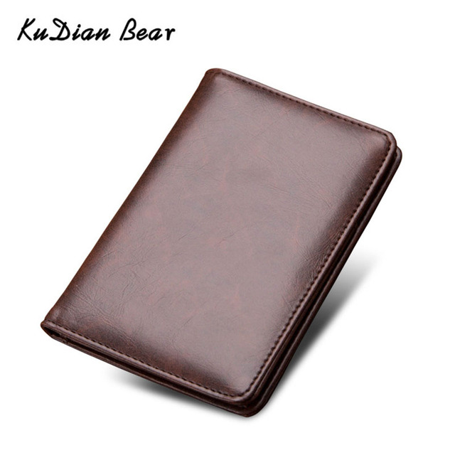 e7a3ba3bf1b0 KUDIAN BEAR Passport Cover Leather Passport Holder Men Travel Wallet Credit  Card Holder Cover for Documents Case BIH066 PM49