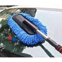 Ferramentas de Lavagem de Fibra Nano Mop Cera do carro Escova Carro limpo poeira Escova Destacável de Algodão Limpo escova de Limpeza Do Carro de Lavagem Retrátil Mop