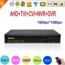 Blue-Ray Case 1080P 2MP Full HD Hi3531A 16 Channel 16CH 5 in 1 WIFI Coaxial Hybrid CVI TVI IP NVR AHD CCTV DVR Free Shipping