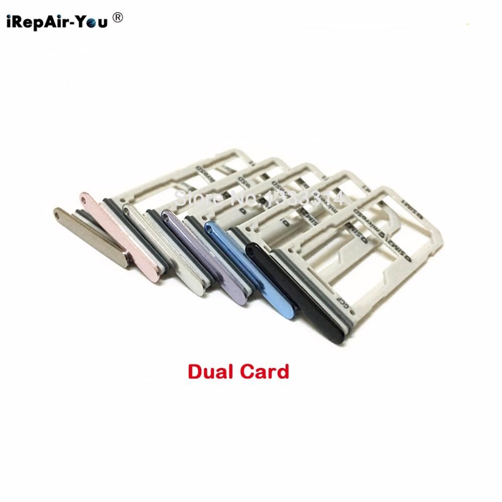 1Set New OEM Single Sim Card+Micro SD Holder Slot Tray for Samsung Galaxy S8 G950F SIM Card Slot SD Card Adapter Sim+Pin Key