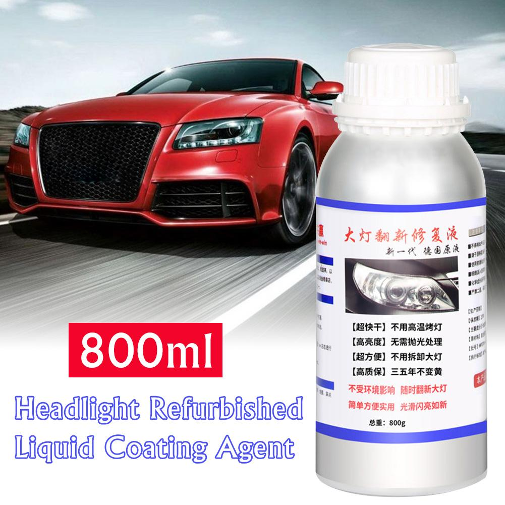 800ML Car Headlight Repair Refurbishment Liquid Auto Headlight Restoration Agent Kit Scratches Lamp Renovation Agent