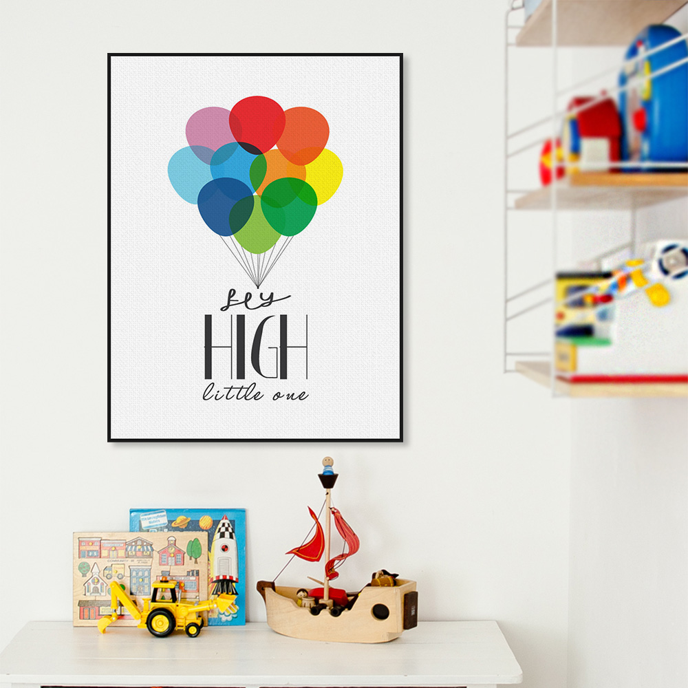 Nordic Colorful Ballons Minimalist Motivational Typography Quotes Poster Print Nursery Wall Art Kids Room Decor Canvas Painting In Calligraphy
