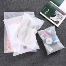Купить с кэшбэком 10pcs Matte Clear Plastic Storage Bag Travel Bags Zip Lock Valve Slide Seal Packing Pouch Bags 2019 Drop Ship