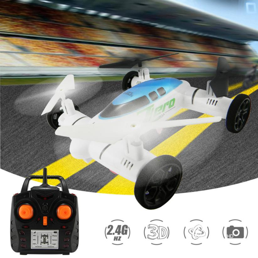 Rc Quadcopter Mini Drone Car HW7007 2 IN 1 2.4G 6-Axis Plane Land Remote Control Car Qua ...