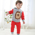 Retail 2017 Autumn style Infant clothes Clothing sets Cute Lion 2pcs(Full Sleeve + Pants) Baby clothes Free Shipping