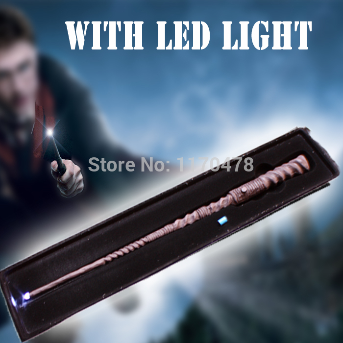 High Quality Deluxe COS Harri Potter  Cho Chang Magical Wand/ Stick LED Light Flashing/Black Gift Box/ One More Spare Battery