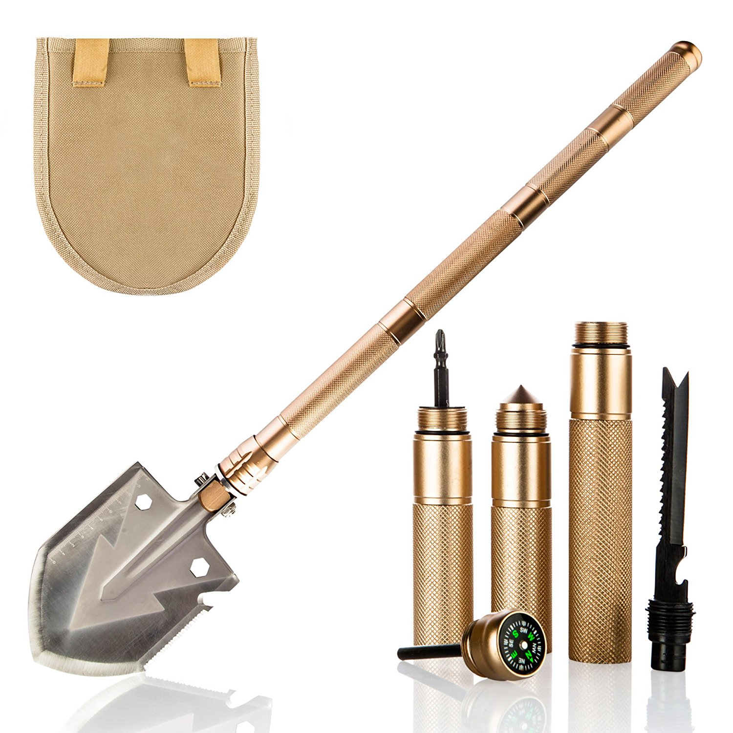 Camping Military Folding Shovel Pickax Entrenching Tool Spade Gardening Snow Mud Digger Car Emergency Multi Tool w/ Tactical Bag цены