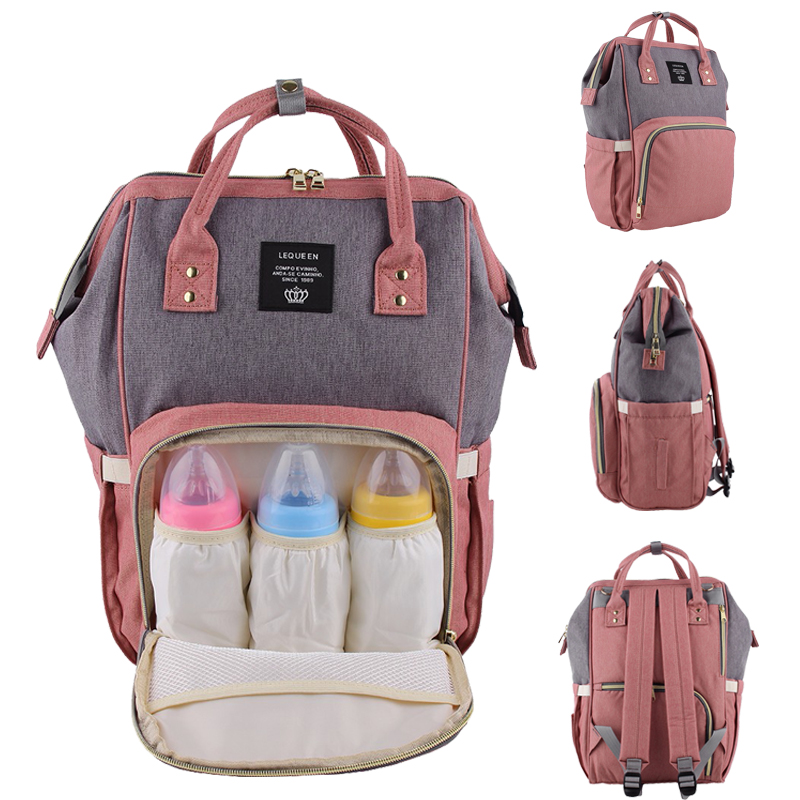 Nappy Backpack Bag Mummy Large Capacity Bag Mom Baby Multi-function Waterproof Outdoor Travel Diaper Bags For Baby Care ! disney mummy bag baby care nappy backpack bag large capacity mom baby multifunction outdoor travel diaper bags red mickey