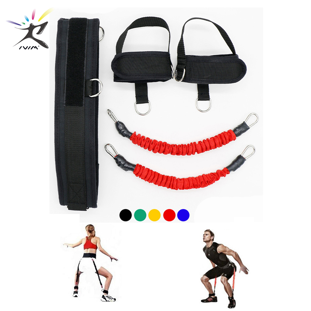 Fitness Bounce Trainer Rope Resistance Bands Exercise Equipment Basketball Tennis Running Leg Strength Agility Training Strap in Resistance Bands from Sports Entertainment
