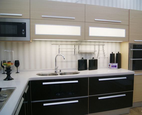 Online buy wholesale modern kitchen cabinets sale from for Cheap black kitchen cabinets