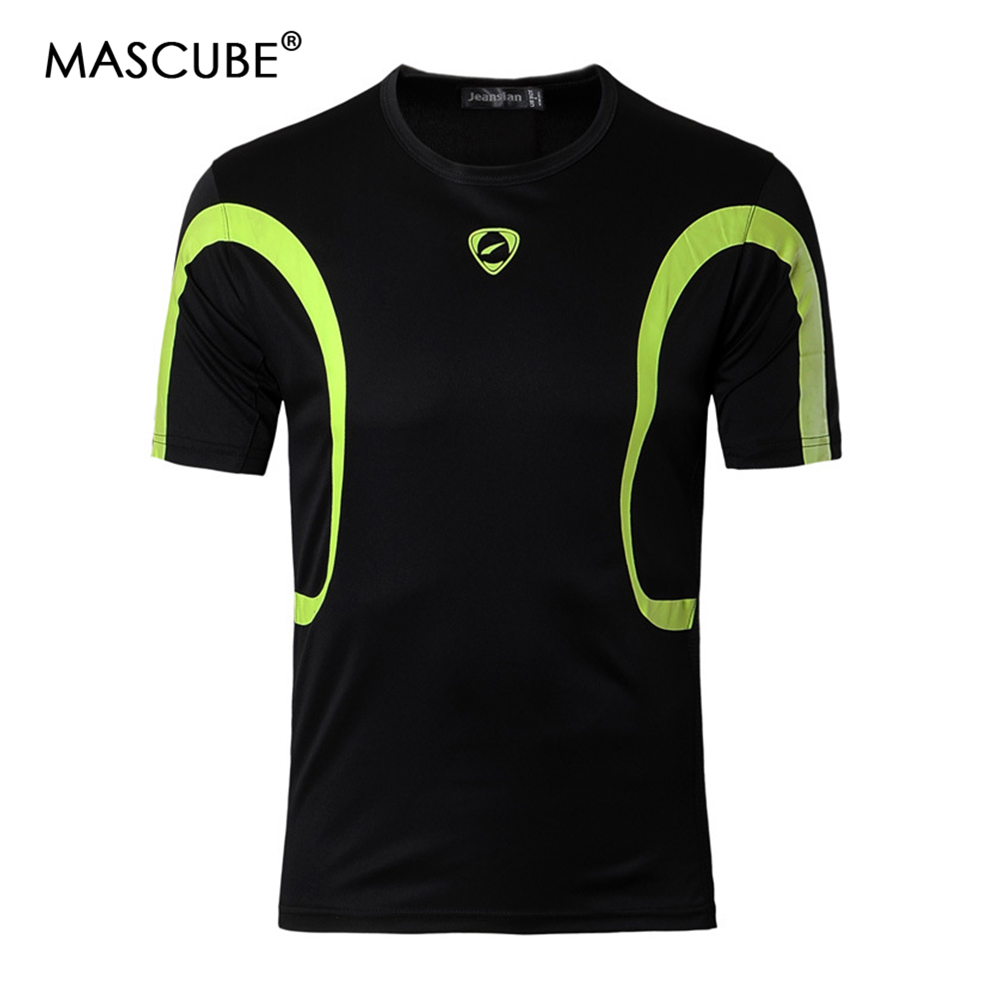 MASCUBE Men Hiking T-shirt Breathable Quick Drying Hunting Sweat Absorbent Sport Short Sleeve Tees Male UV Protection T-shirts