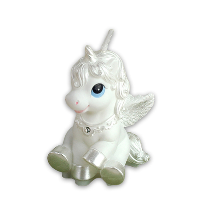 Childrens party supplies birthday candle bestie horse white horse gift to send small Pegasus Fantasy Zodiac candle
