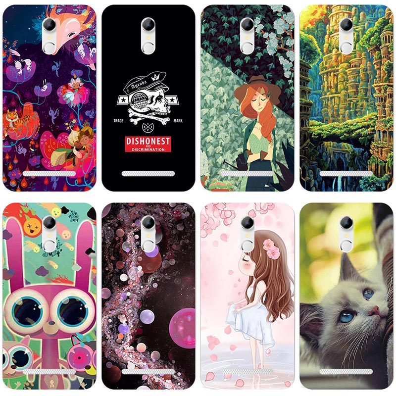 Silicone Phone Cover Case For <font><b>Homtom</b></font> HT27 <font><b>HT</b></font> <font><b>27</b></font> 5.5 inch Cover Soft TPU Case Housing Flowers Rose Cat Housing Bag image