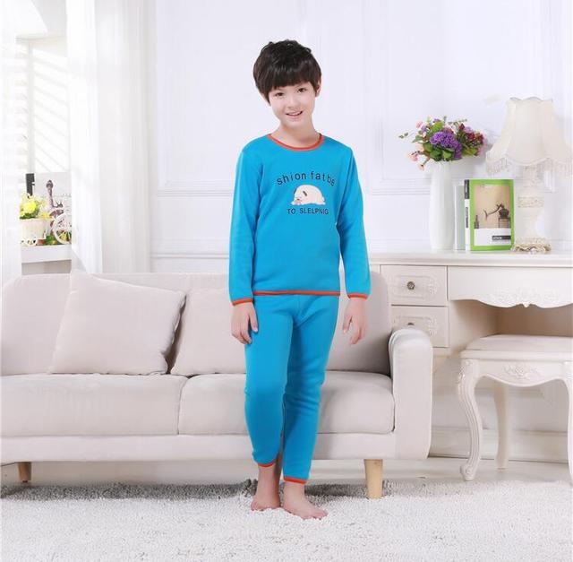 Children pajamas sets cartoon sugar pyjamas children warm mocha children sleepwear winter sleep tops&bottoms casual pajama sets