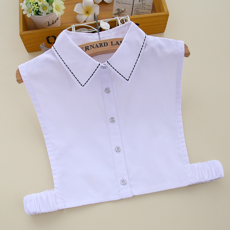 YSMILE Y Women White Shirt Fake Collar Linear Decoration Detachable Collar False Collar Lapel Blouse Clothes AccessoriesB61