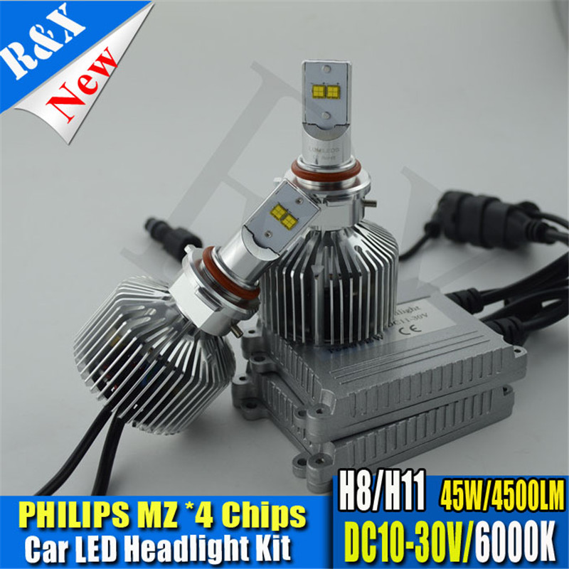 1set H8 H11 90W 9000LM LED Headlight Conversion Kit Driving Lamp Bulb Xenon Truck Car Light Source 6000K Fog Lamp 10-30VDC