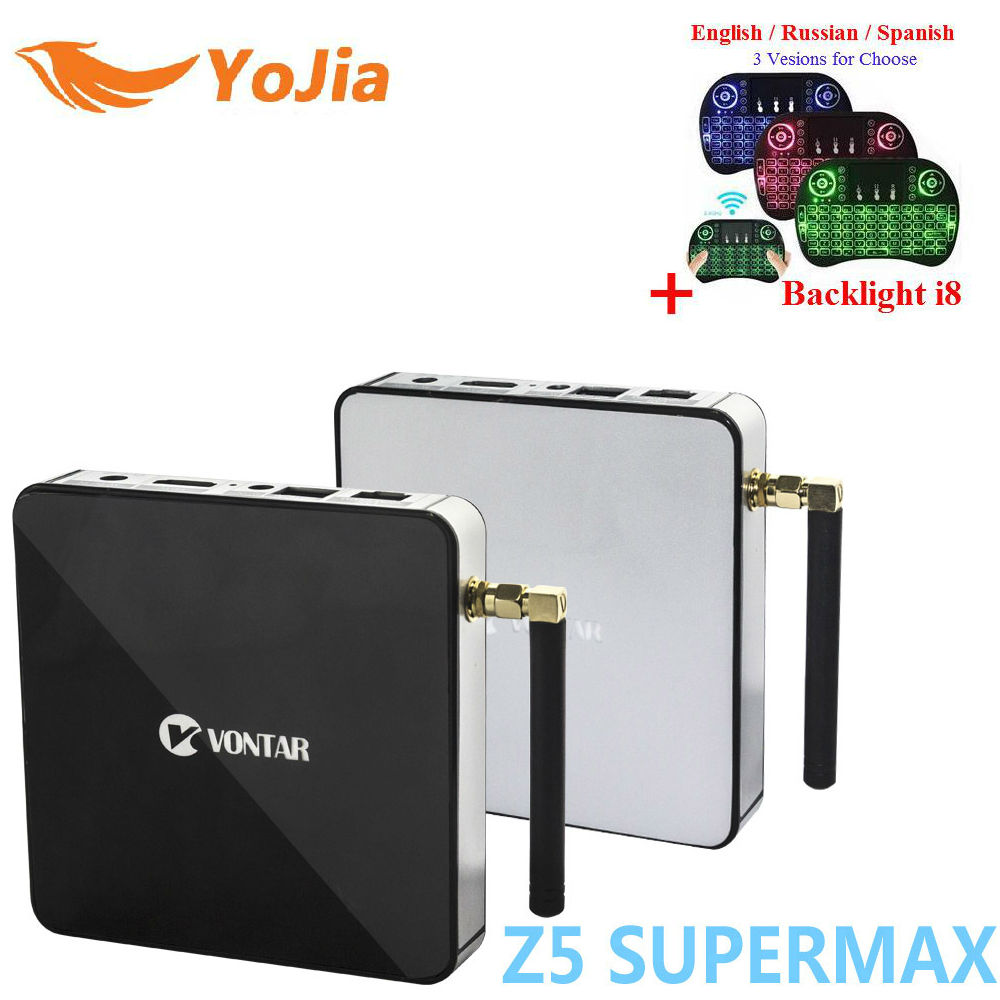 Yojia 2GB/16GB Amlogic S912 Z5 Supermax Android 7.1 TV Box Octa Core Dual WIFI 4K Media Player MINI Smart TV Set Top Box m96x ii plus digital smart tv box 2gb 16gb android 7 1 media player s912 octa core 2g 5g wifi 4k internet tv set top box