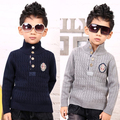 Autumn/Winter Stand Collar Knitted Baby Children Sweaters Boys Toddlers Tops Pullovers for Kids Clothes 2016 T2DTBO