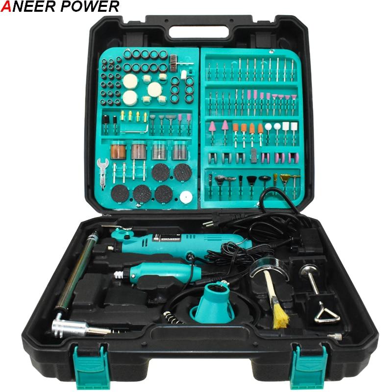 Dremel 2Pcs Profession Engraver Mini Dril Mini DIY Drill Machine Engraving Pen Grinder Mini Electric DIY Drill Rotary Tool Eu